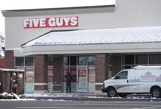 Five Guys Restaurant Front