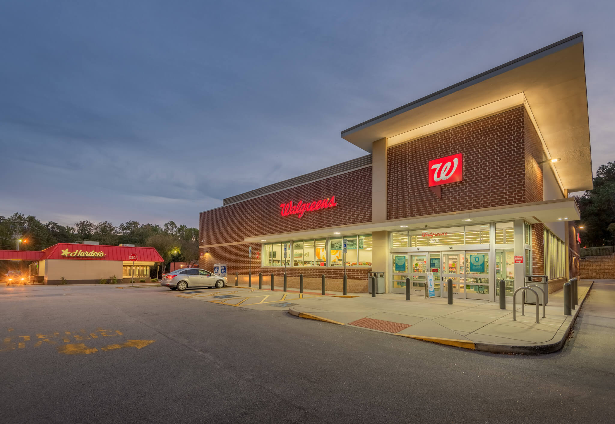 Avent Ferry Walgreens and Hardees