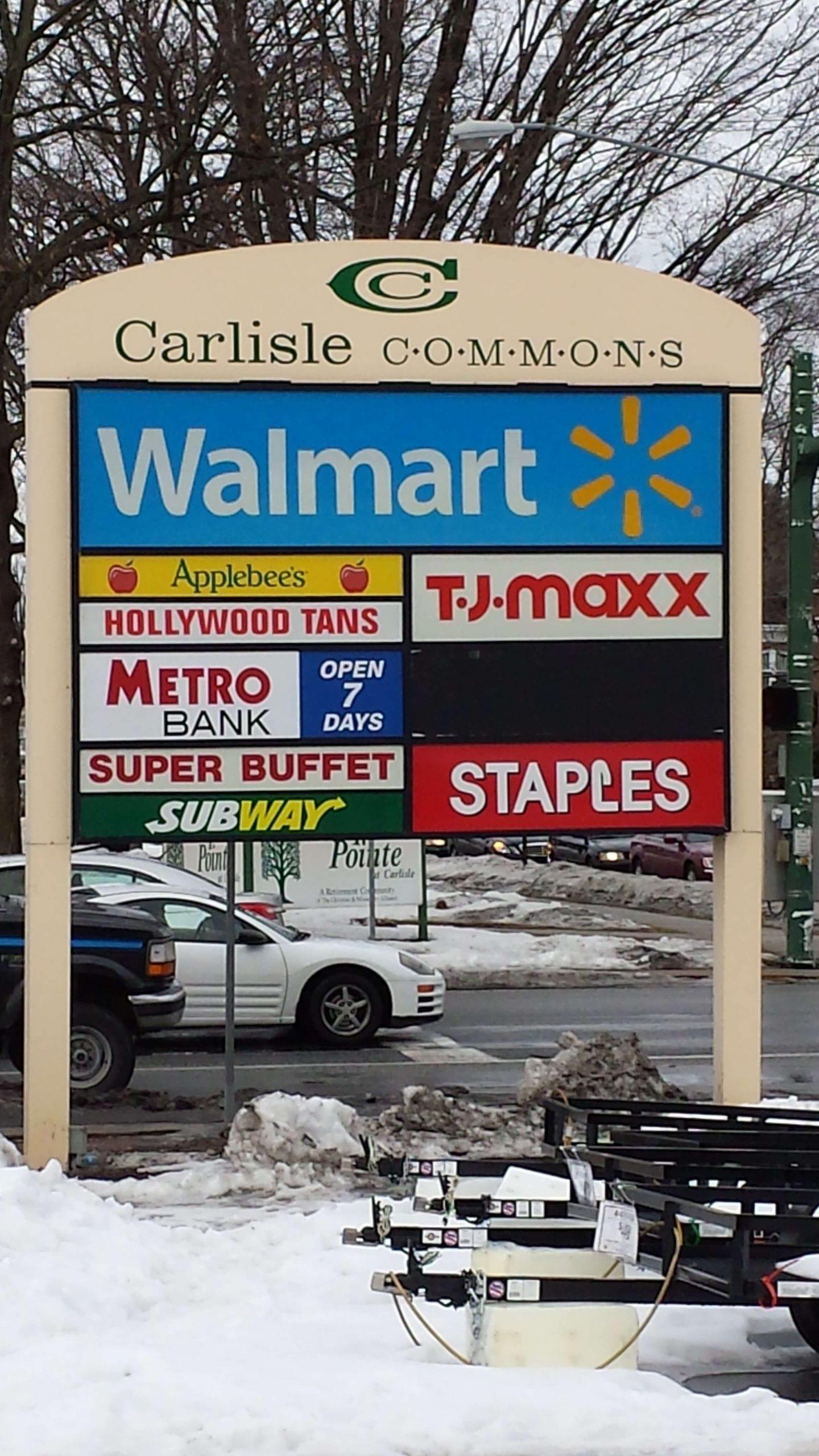 Carlisle Pylon Sign at Main Entrance