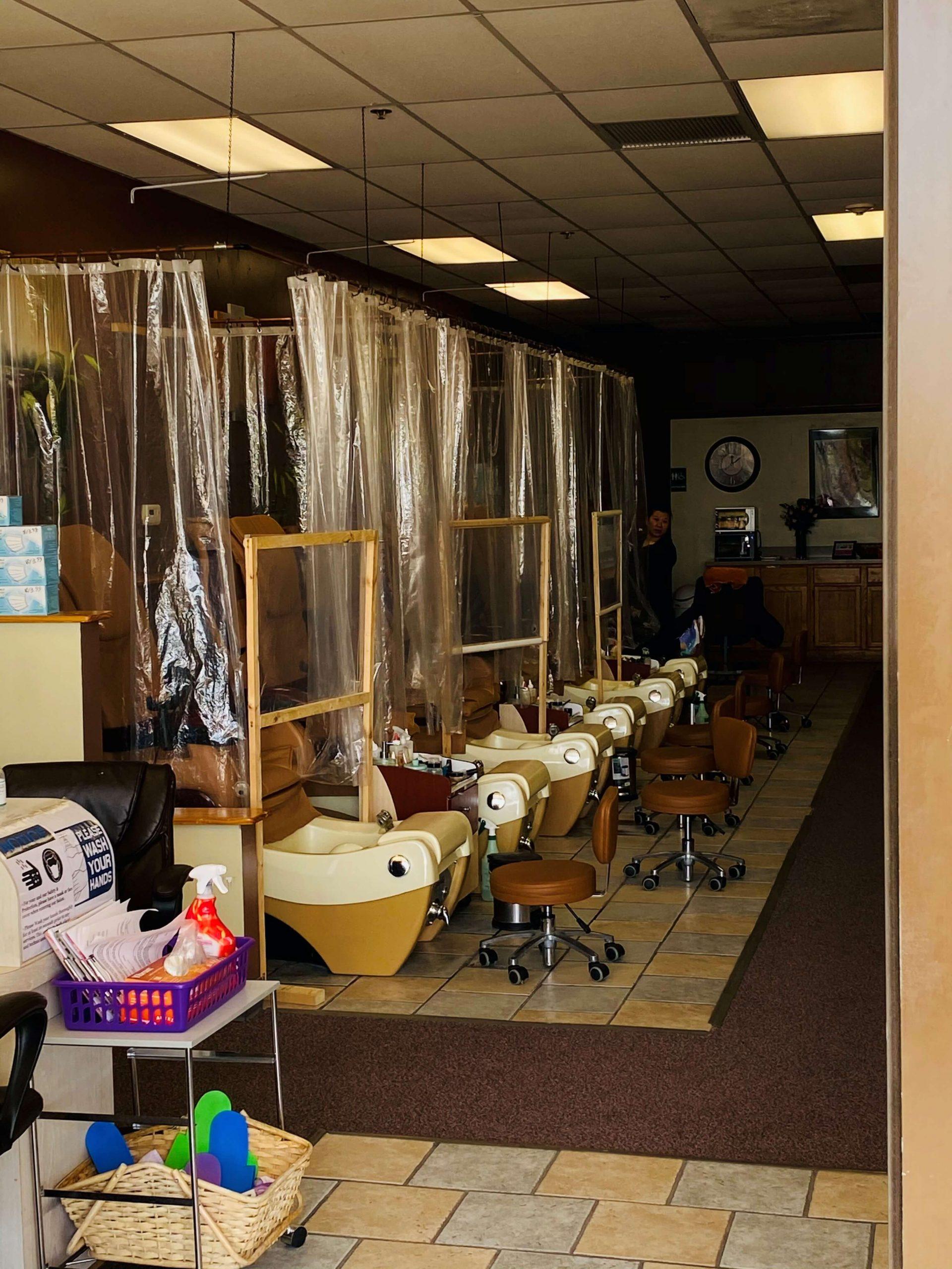 Nail Salon at Liberty with COVID Precautions