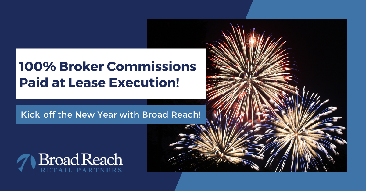 100% Broker Commissions Paid at Lease Execution