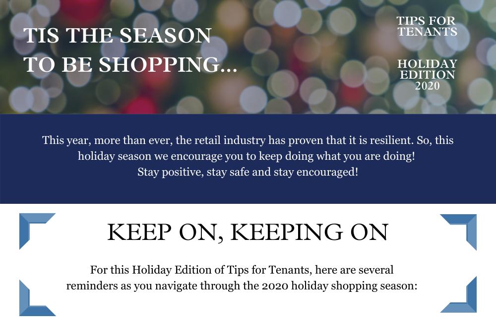 Holiday Season Tips for Tenants