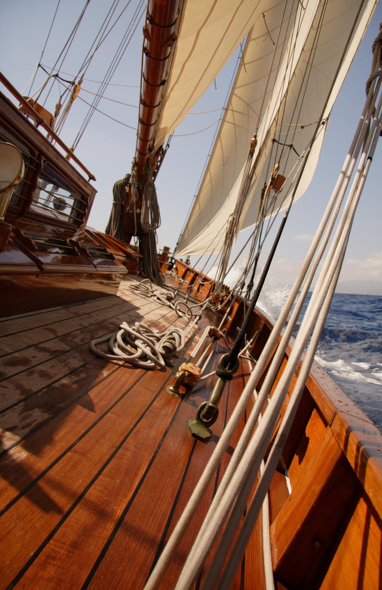 Aboard a Sailboat